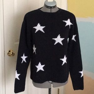 Coldwater Creek - Navy with White Stars Sweater